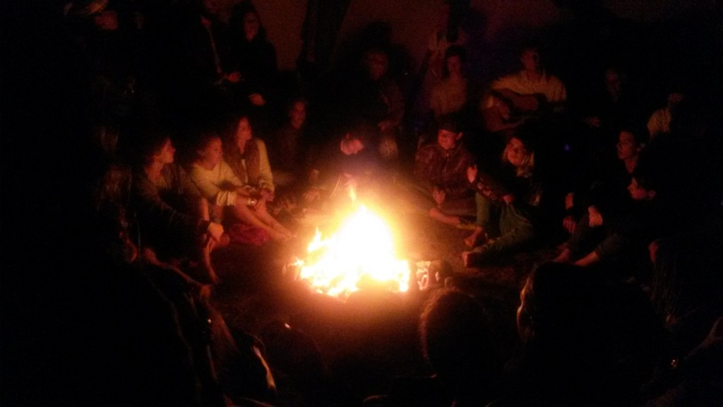 Around a campfire at Prana