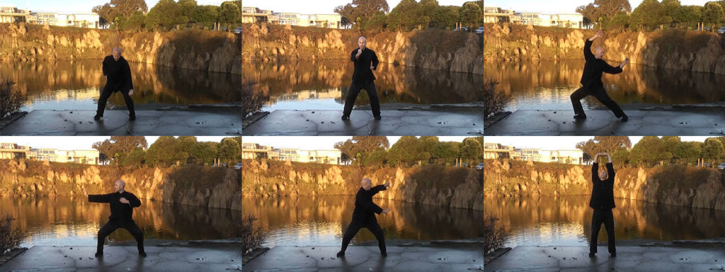 Screenshots from vdeos in the Qigong Foundation Practices Course